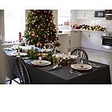 Home, Christmas, Table decoration