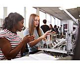 Research, Schoolgirls, Robotics