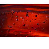 Red, Liquid, Water Bubbles