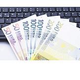 Euro notes, Computer keyboard