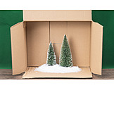 Carton, Christmas tree, Christmas decoration