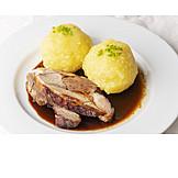 Potato dumpling, Pig roast