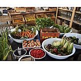 Vegetable, Unpacked, Organic grocery store