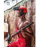 Construction worker, Muscular build, Iron rod