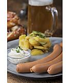 Potato salad, Sausages