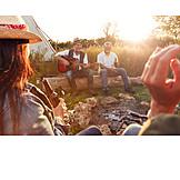 Friends, Singing, Summer vacation, Camping