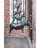 Bremen town musicians, Bronze sculpture