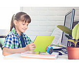 Learning, Homework, Schoolgirl, Quarantine
