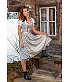 Young woman, Fashion, Dirndl