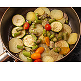 Vegetable pan, Vegan