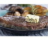 Steak, Herb butter, Porter house steak