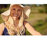Woman, Summer, Sun hat