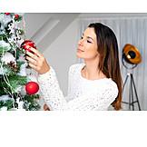 Decorate, Christmas ball, Christmas tree
