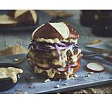 Burger, Pretzel rolls, Weisswurst
