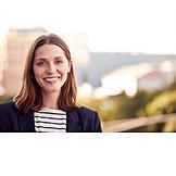 Woman, Smiling, Portrait