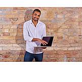 Businessman, Laptop, Presentation