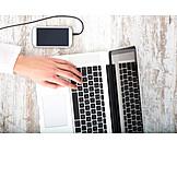 Laptop, Online, Workplace