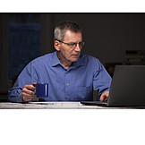 Office, Laptop, Overtime, Architect