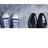 Business, Freizeit, Schuhpaar