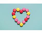 Heart, Valentine, Macarons