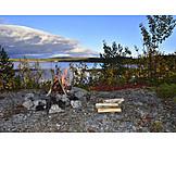 Campfire, Nature, Jämtland