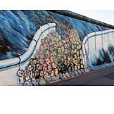 Berlin wall, Graffiti, East side gallery, 1989, Wall opening