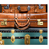 Suitcase, Case, Leather suitcase