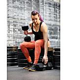 Weightlifting, Dumbbell training, Short dumbbell