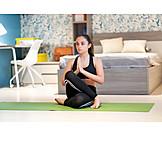 Teenager, Home, Yoga, Gomukhasana