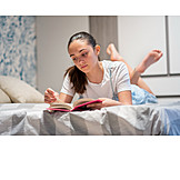Teenager, Leisure, Home, Reading