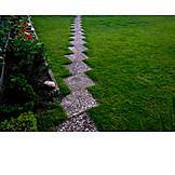 Stone plate, Garden path