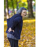 Senior, Walk, Back pain