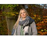 Woman, Autumn, Portrait